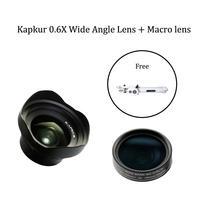 Kapkur 0.6X HD широкоугольный объектив + макро объектив с одним корпусом телефона и одной бесплатной селфи палкой