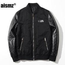 Aismz Fashion font b Men s b font Bomber font b Jacket b font Coat Male