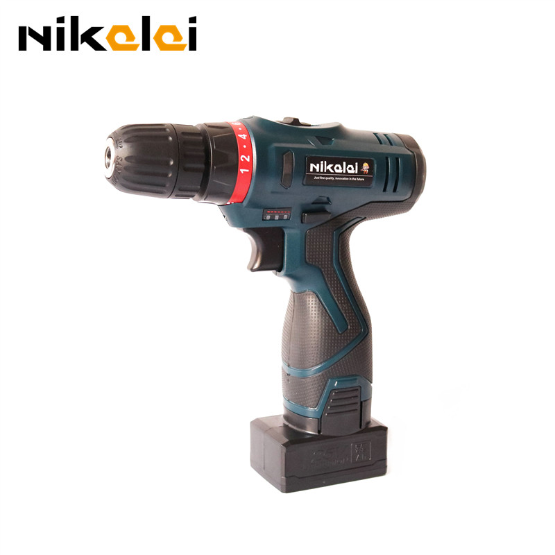 25V 1350r minRechargeable lithium battery Manual electric drill driver charging cordless electric screwdriver gun power tools