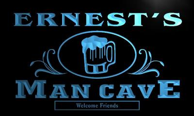 x0086-tm Ernests Man Cave Bar Beer Mug Custom Personalized Name Neon Sign Wholesale Dropshipping On/Off Switch 7 Colors DHL