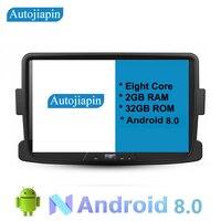 AUTOJIAPIN 9 дюймов восемь Core Android 8,0 2 г Оперативная память 1024*600 автомобилей gps навигация для RENAULT Duster с HD Сенсорный экран
