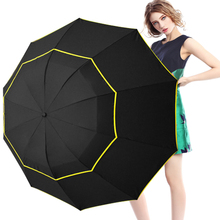 Fancytime Big Folding Umbrella for man Umbrella Rain Woman 130cm Windproof Large Women Paraguas Male Women good quality
