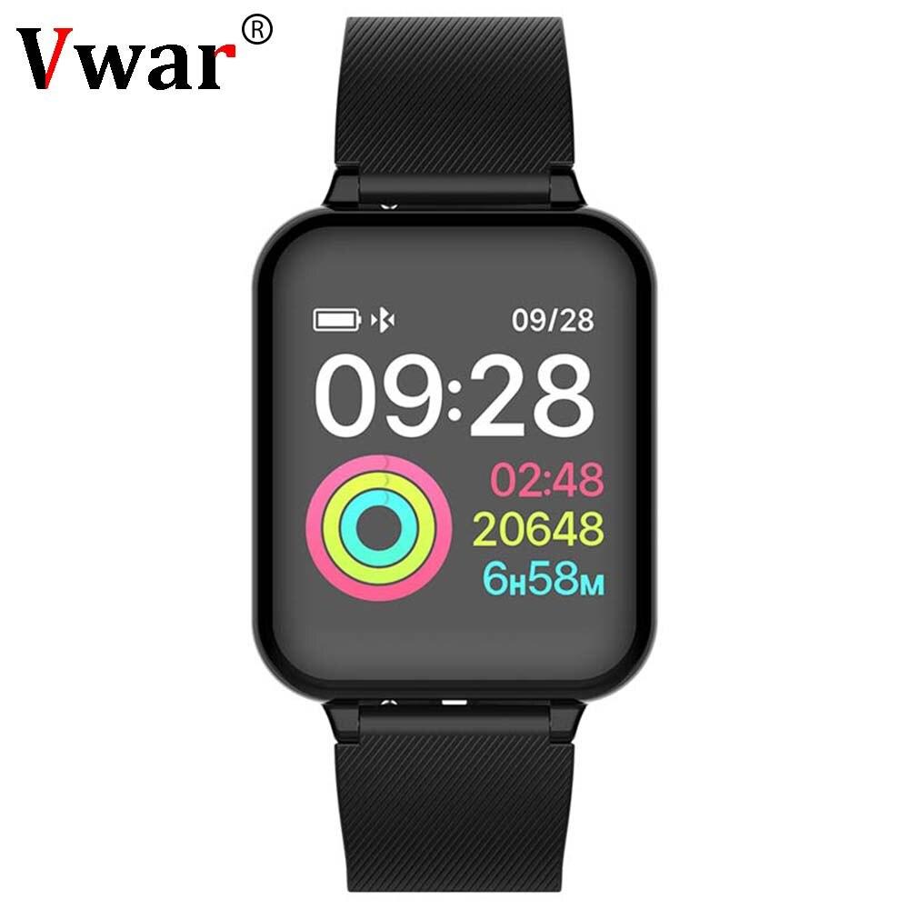Vwar W4 Astuto Della Vigilanza del Monitor di Frequenza Cardiaca Fitness Braccialetto di Pressione Sanguigna Orologi Impermeabili per Apple Huawei Pk Fitbits miband 3