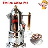 イタリアモカポット家庭用モカコーヒーマシンステンレス鋼商業エスプレッソコーヒーメーカー