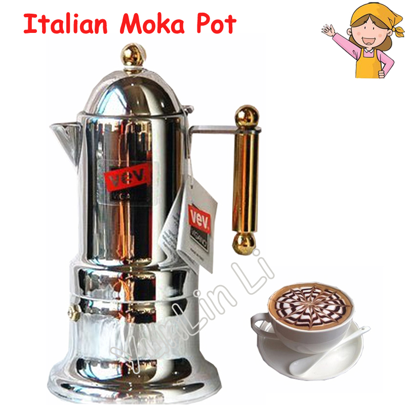Italian Moka Pot Household Mocha Coffee Machine Stainless Steel Commercial Espresso Coffee Maker italian visual phrase book