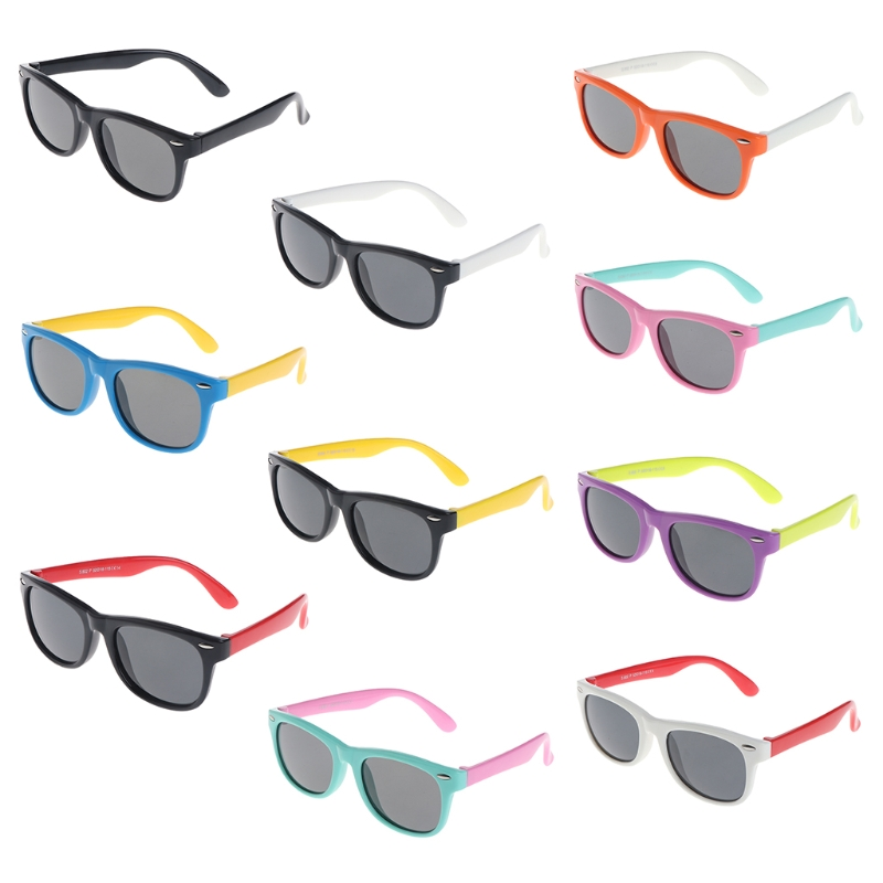 Cool Silicone Safety Software Polarized Children Sunglasses Baby Glasses Lovely
