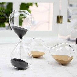 1PC 60 minutes Hourglass Hand-blown Timer clock Magnetic Glass Sandglass ampulheta crafts sand clock hourglass timer JY 1189-7