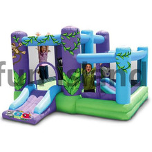 0.55mm PVC tarpaulin inflatable bouncer combo inflatable bouncer with slide commercial inflatable combo