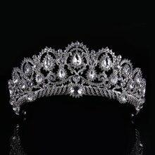 Newest Hot sale Crystal Glass Tiara Crown Woman Hair Jewelry Rhinestones Wedding Crown Hairwear Bride Accessories CY161117-135