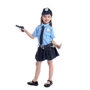 Image 2 - Bonito meninas minúsculo policial policial polícia playtime cosplay uniforme crianças mais legal traje de halloween