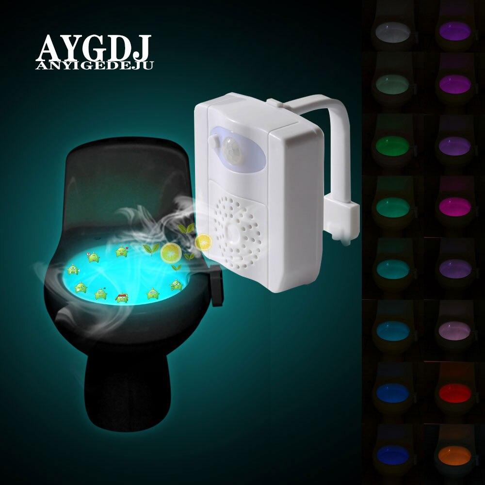 16-color Toilet Night Light With Function Of Aromatherapy UV Sterilizer Body Sensing Waterproof Bathroom Night Light