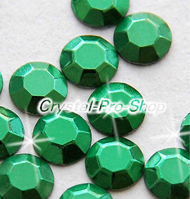 7200 Pieces Green 2mm 6ss Ss6 Faceted Hotfix Rhinestuds Iron On Round Beads New Aluminium Metal