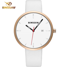 BINSSAW 11.11 Luxury brand Ladies Fashion Quartz Watch Women  Leather Casual Dress Women's Watch Rose Gold reloje mujer  femme