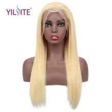 Blonde Lace Front Wig Pre Plucked With Baby Hair Yilite Brazilian Remy Human Wigs Straight 613
