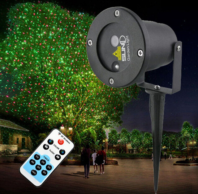 waterproof outdoor christmas lights elf laser projectorred green moving stage lighting effect new year