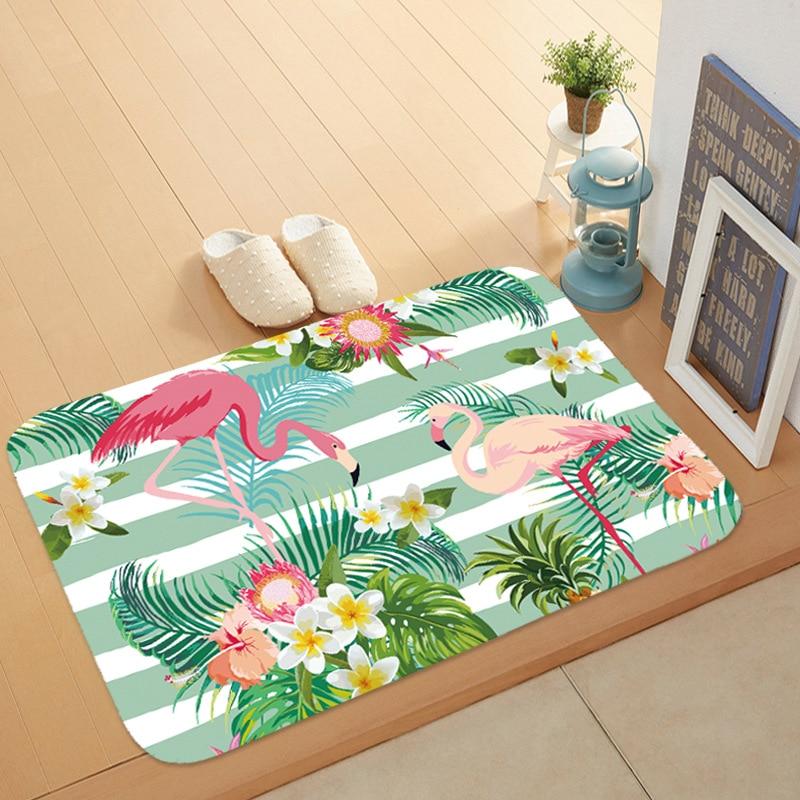 Flamingo Door Mat Printed Home Decor Floor Carpets Mats