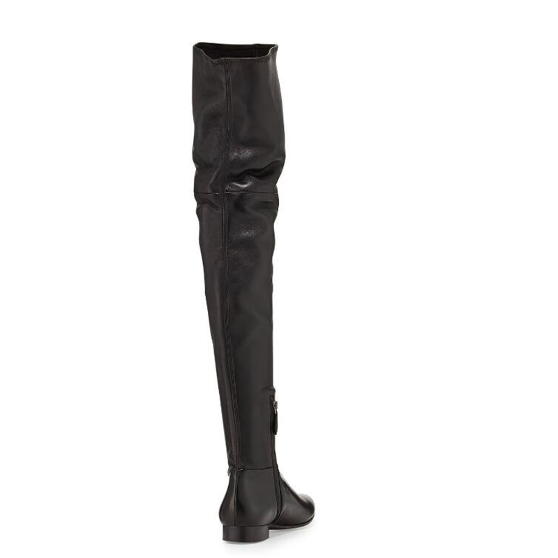 Genou Noir Casual Zip Taille 2018 Rond Bottes Bout Picture Gladiateur Picture Appartements Gris As Courte as Hiver Haute Peluche Chaussures Femme Mode XO6n8Yqax