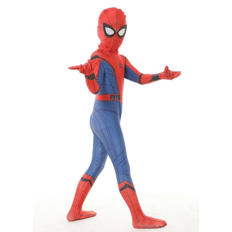 Kid Spiderman Homecoming costume Spandex Zentai Costume Civil War Spiderman Costumes Spiderman Cosplay Custom Movies Suit