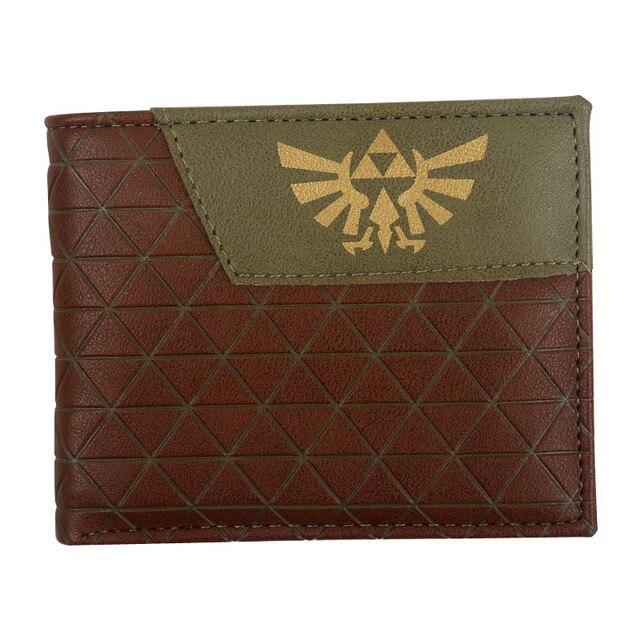 La leyenda de Zelda cartera anime cosplay hombres carteras con monedero de bolsillo para tarjetas nuevo