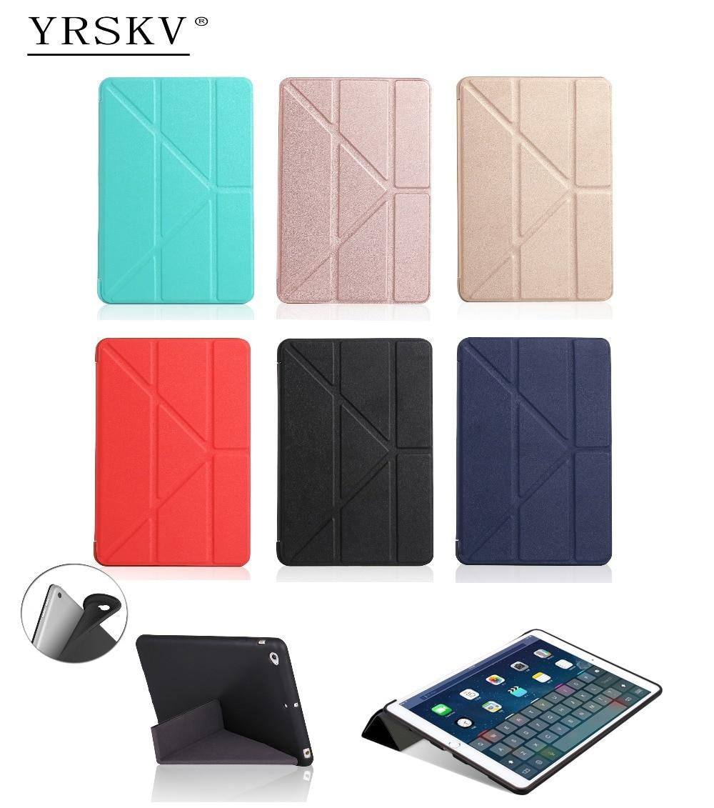 Case for iPad mini 1 mini 2 mini 3 YRSKV deform PU leather cover + TPU soft silicone shell Smart Auto Sleep Wake Tablet Case