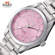 Nueva Moda reloj mujeres Rhinestone reloj de cuarzo relogio feminino la caja de reloj de las mujeres viste el reloj de moda reloj de mujer dift