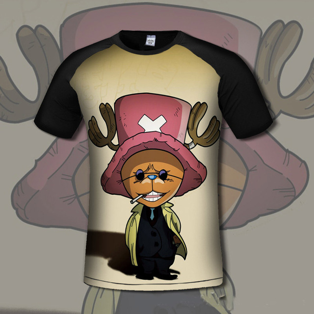 One Piece Anime Monley D Luffy Short Sleeves Men's T-shirt