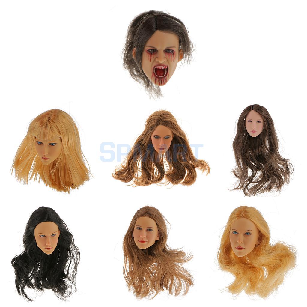 1//6 Female Head Sculpt cheveux blonds SDH005B Superduck pour Hot Toys PHICEN TBL USA