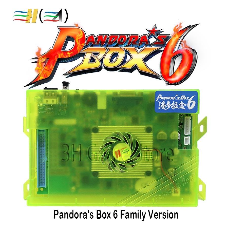 D'origine boîte de Pandore 6 1300 dans 1 famille version console Carte Mère soutien 3d jeu peut ajouter FBA MAME PS1 jeu jusqu'à 3000 jeux