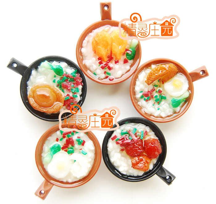 1:6 Bonito MINI acessórios casa de bonecas Casa De Bonecas Em Miniatura de Alimentos cozinha comida Chinesa Caçarola mingau Mini simulação de alimentos