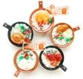 1:6 Cute MINI Dollhouse Miniature Food accessories dollhouse kitchen Chinese food Casserole porridge Mini simulation food