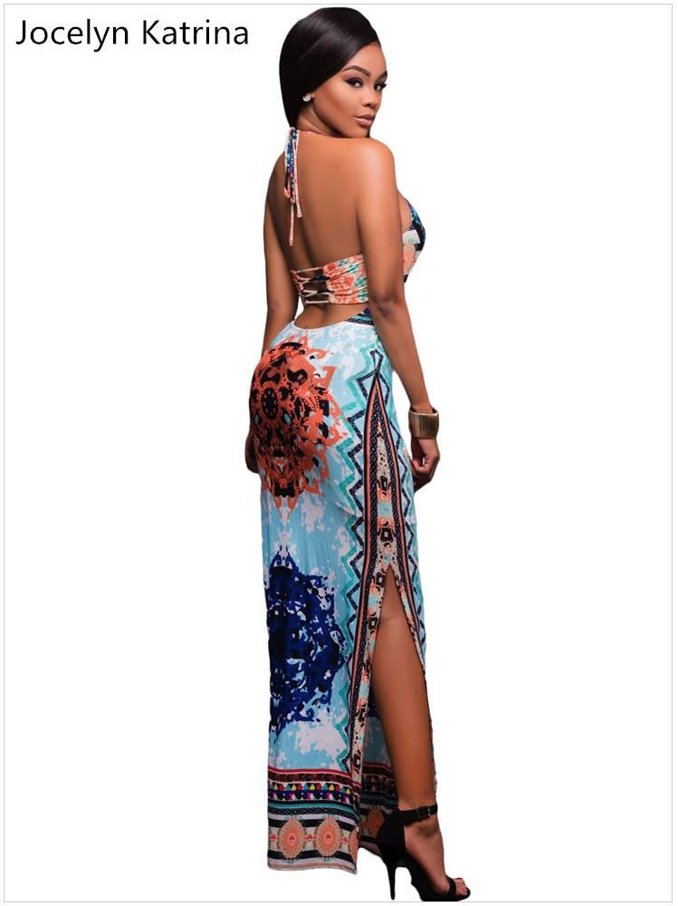 Jocelyn katrina marke Hang ein ansatzspitze print Kleider verteilt ...