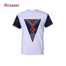 Hitarget New 2019 Style African Print t Shirt Short Sleeve Casual Tops Men Dashiki Plus Size Clothing WYN381