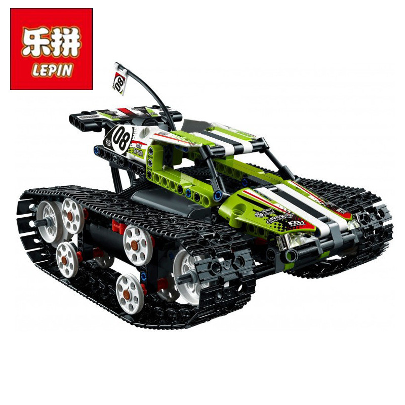 Lepin 20033 Technic The RC Track Remote control Race Racing Car Building Blocks Bricks Toys inflatable zorb ball race track pvc go kart racing track for sporting party