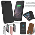 External 10000mAh USB Power bank Pack back battery Charger Case For iPhone 6 6s 7 7 Plus with Tempered glass film usb cable line
