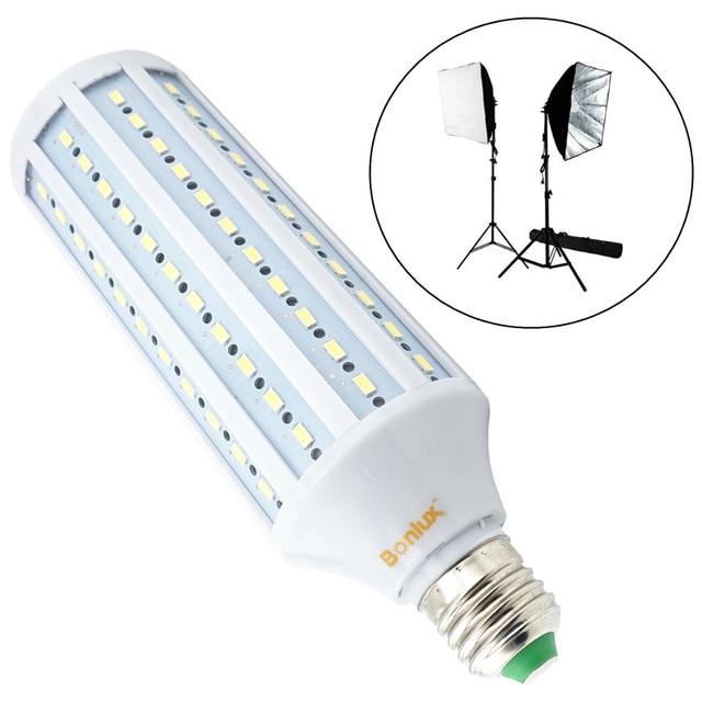 40W LED Studio Light Bulb E26 E27 Base 5500K Standard Color Photography Bulb for Prefrssional Video Background Camera Lighting