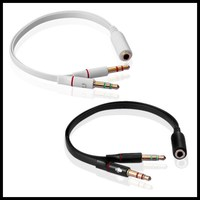 50pcs Y Splitter 1 Female to 2 Male 3.5mm Mic Stereo Audio Adapter Audio Cable For PC