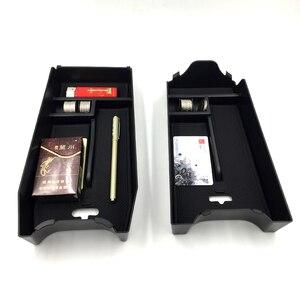 Image 2 - אביזרי עבור מרצדס בנץ E Class 2010 2015 W212 מגש ארגונית מיכל תיבת אחסון משענת יד המרכזית קונסולת רכב סטיילינג