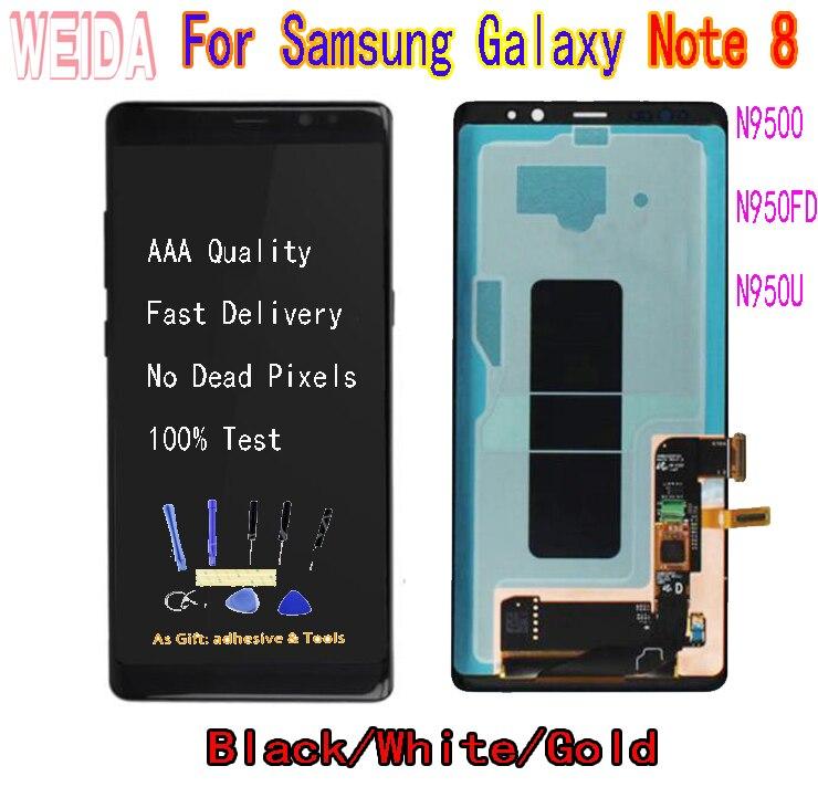 WEIDA 6,3 для samsung Galaxy Note 8 N9500 N950FD N950U ЖК дисплей с сенсорным экраном дигитайзер сборка без рамки