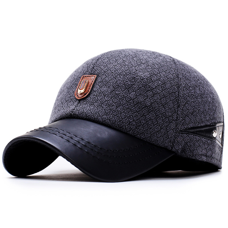 old man autumn and winter outdoor leisure lint flat cap in the elderly warm ears duck цена и фото