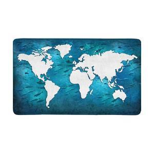 Art mapa świata kryty wejście dywan maty podłogowe do butów wycieraczka