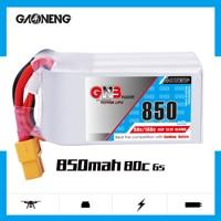 2PCS Gaoneng GNB 850mAh 6S 22.2V 80C/160C HV Lipo battery XT30 XT60 Plug for RC Airplane Helicopter Drone