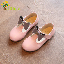 J Ghee 2017 Spring Summer Girls Shoes Princess Kids Sandals Cut-out Fashion Princess Single Shoes For Children Bowtie Bow Sweet