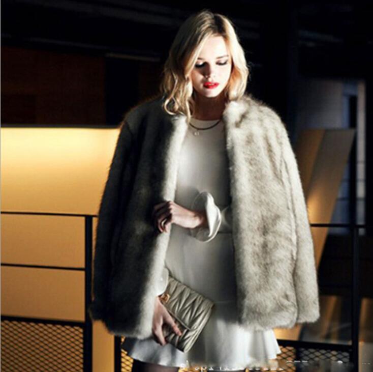 Manteau Mince Photo Cuir Vestes Mode Vêtements Casual Hiver 4xl En Femme Fourrure Épaissir Veste Automne Vison Chaud Faux Femmes S wxPHqn4gO