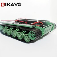 Shock absorbing robot tank chassis tracked vehicle with suspension damping economy for Arduino