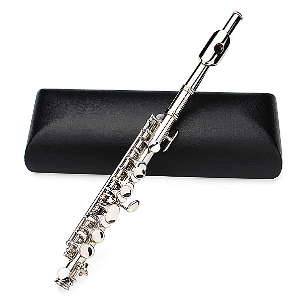 LADE Silver Plated C Piccolo Flute With Case Musical Instrument professional new silver plated trumpet bb keys with monel valves horn case