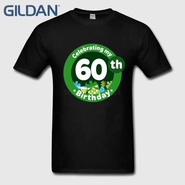 60th Birthday Celebration Game Ali T Shirts Black Hip Hop 100 Cotton Size Tee Uniform Short Sleeves Male
