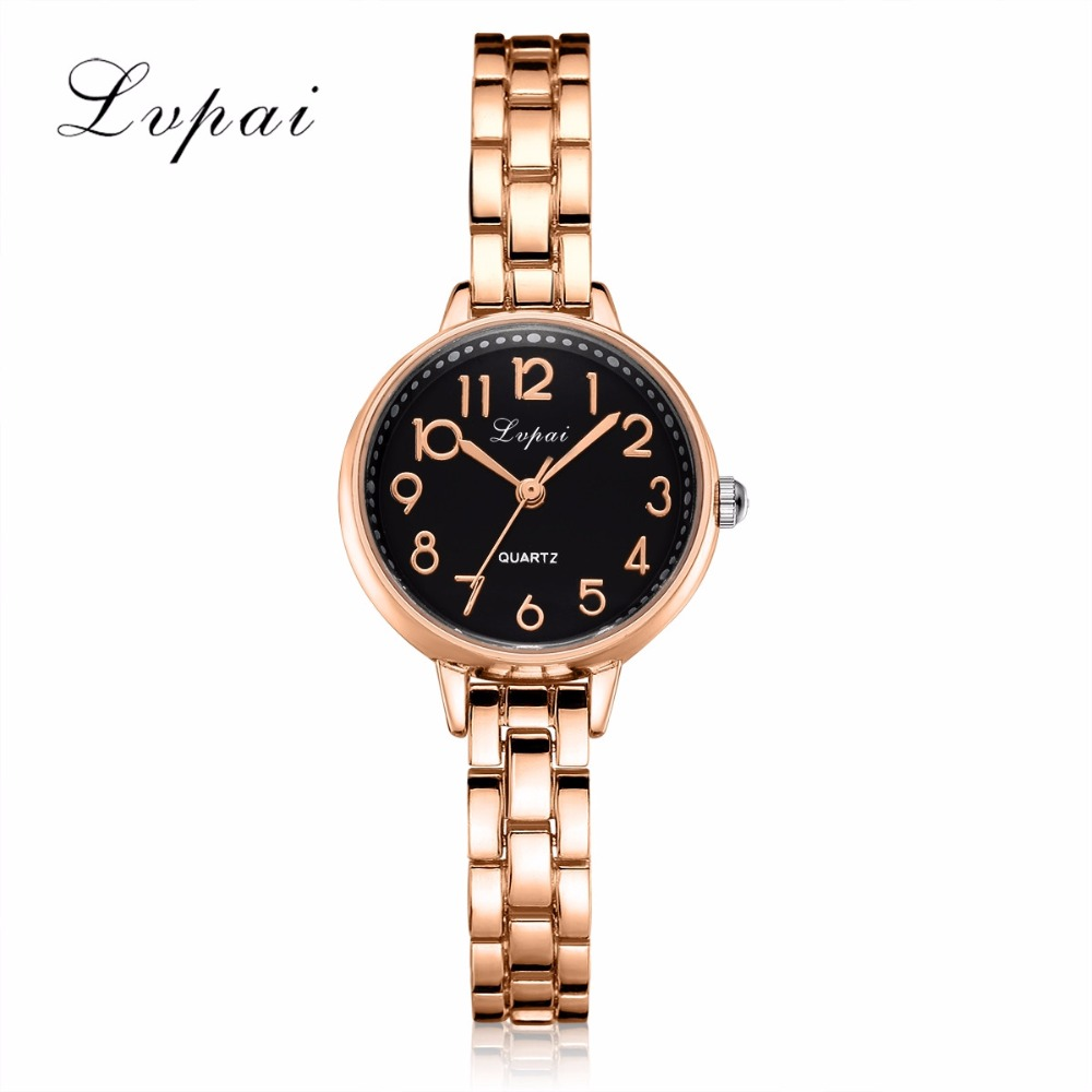 Lvpai Brand Women Watches Bracelet Watch Ladies Luxury Crystal Dress Wristwatch Quartz Sport Rose Gold Watch Relogio Feminino ccq luxury brand vintage leather bracelet watch women ladies dress wristwatch casual quartz watch relogio feminino gift 1821
