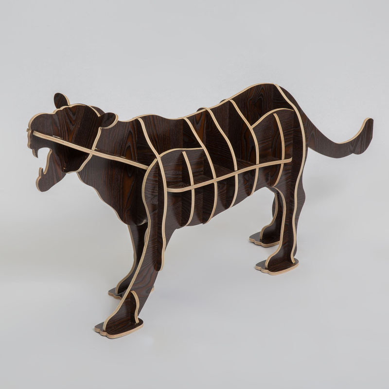 Nordic Continental furniture wood animal racks Creative home wooden ornaments Home Decoration simulation leopard desk table realistic simulation dog ornaments garden courtyard home living room decorations crafts lucky animal decoration