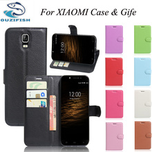 (OUZIFISH)Wallet PU Leather Back Cover Phone Case For XIAOMI redmi note 2 3 4 pro 3s Case Flip Protective Cover Bag Skin