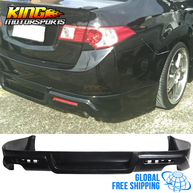 For Acura TSX Dr JDM Poly Urethane Black Rear Bumper Lip - Acura tsx bumper